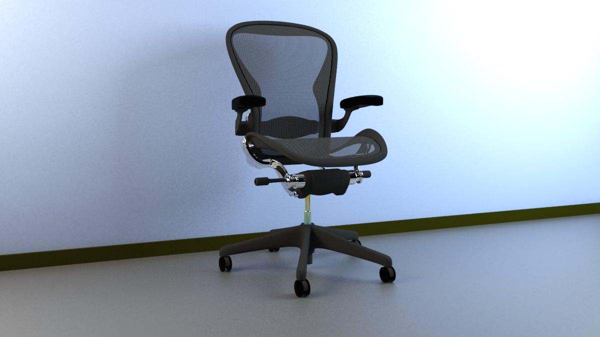 Aeron Work Chair Herman Miller 3D model   CGTrader