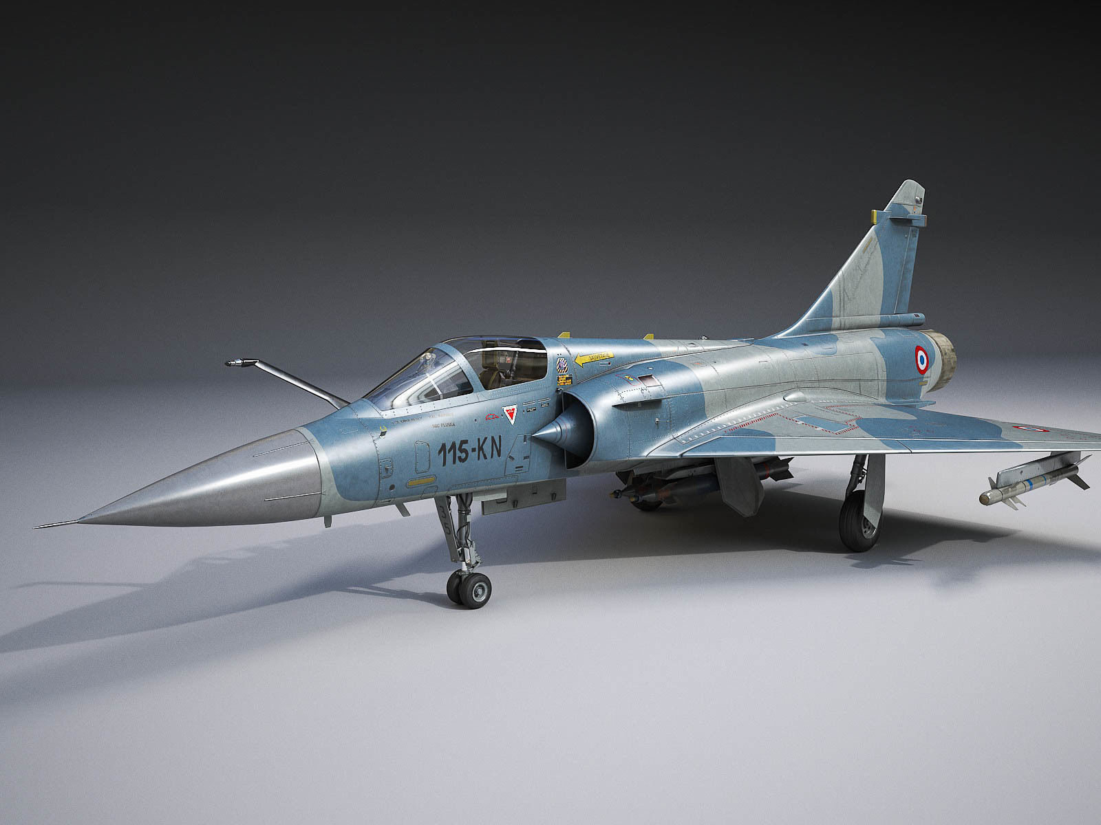 Dassault Mirage 2000 rigged