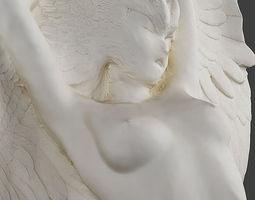 Winged nude female sculpture 3D print model