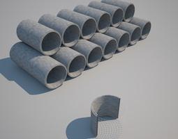 Concrete Pipes 3D model