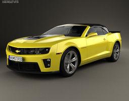 Chevrolet Camaro ZL1 convertible 2014 3D