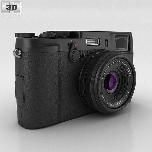 fujifilm finepix x100s black 3d model max obj 3ds fbx c4d lwo lw lws 1