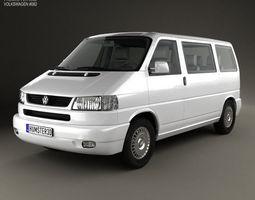3d volkswagen transporter t4 caravelle 1996