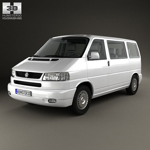 volkswagen transporter t4 caravelle 1996 3d model max obj. Black Bedroom Furniture Sets. Home Design Ideas
