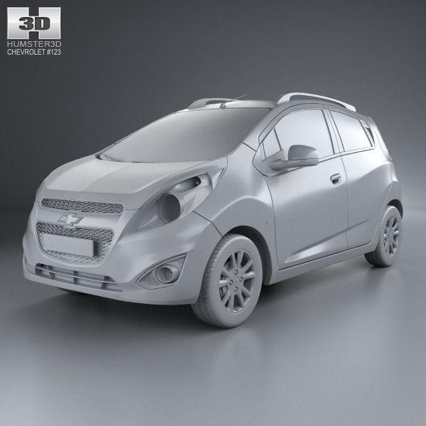 Chevrolet Spark Ls 2013 3d Cgtrader