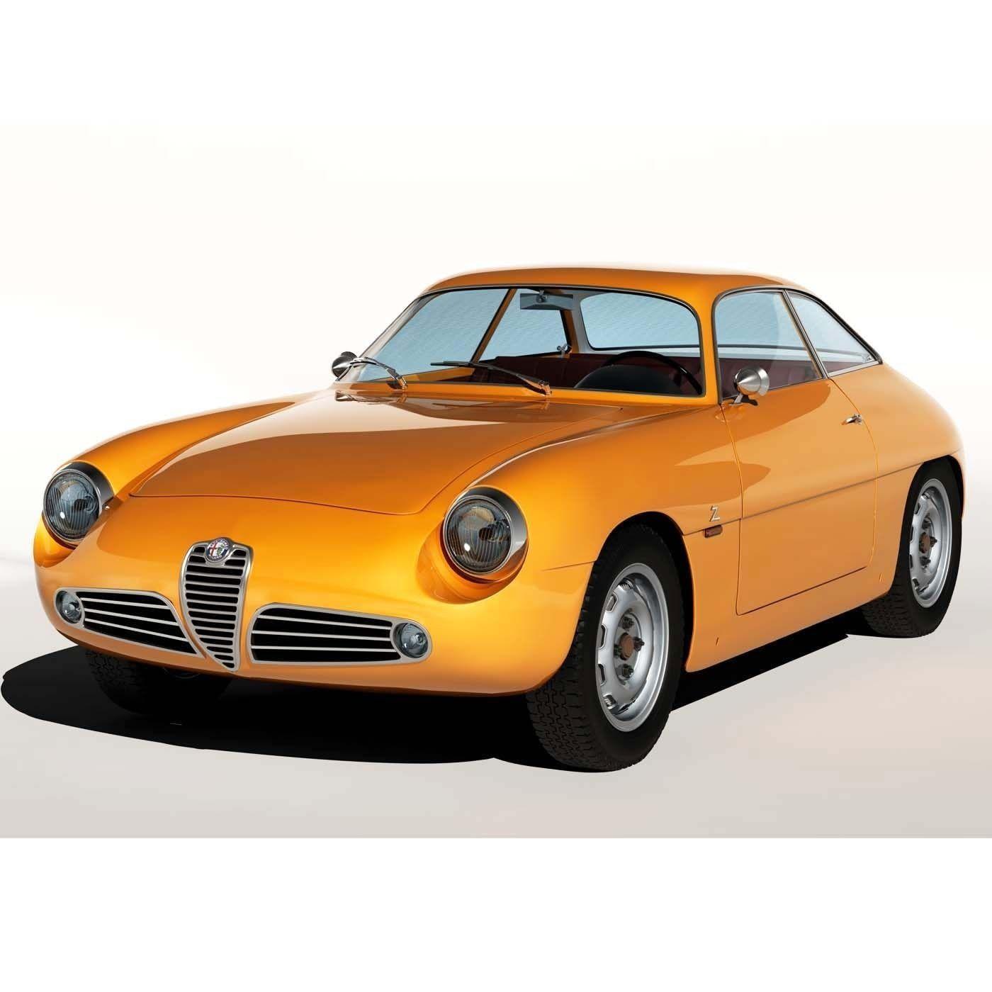 1960 Alfa Romeo Giulietta SZ 3D Model MAX OBJ FBX MTL