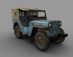 old Jeep  3D Model
