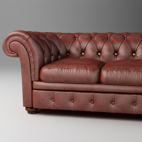 Leather Sofa Relotti Armando 3d Model Max Obj 3ds Fbx Mtl 1 ...