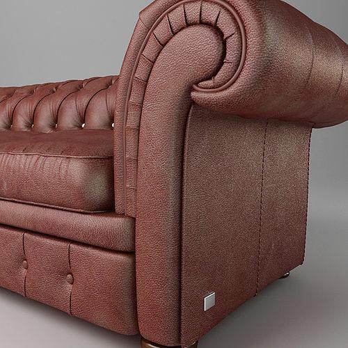 leather sofa relotti armando 3d model max obj 3ds fbx mtl 6