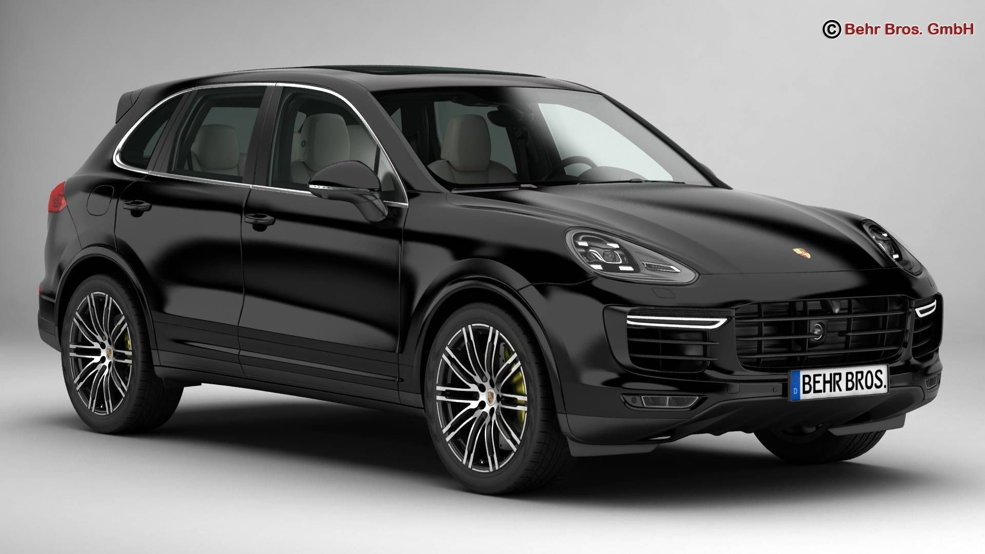 porsche cayenne turbo s 2016 3d model max obj 3ds fbx c4d lwo lw lws. Black Bedroom Furniture Sets. Home Design Ideas