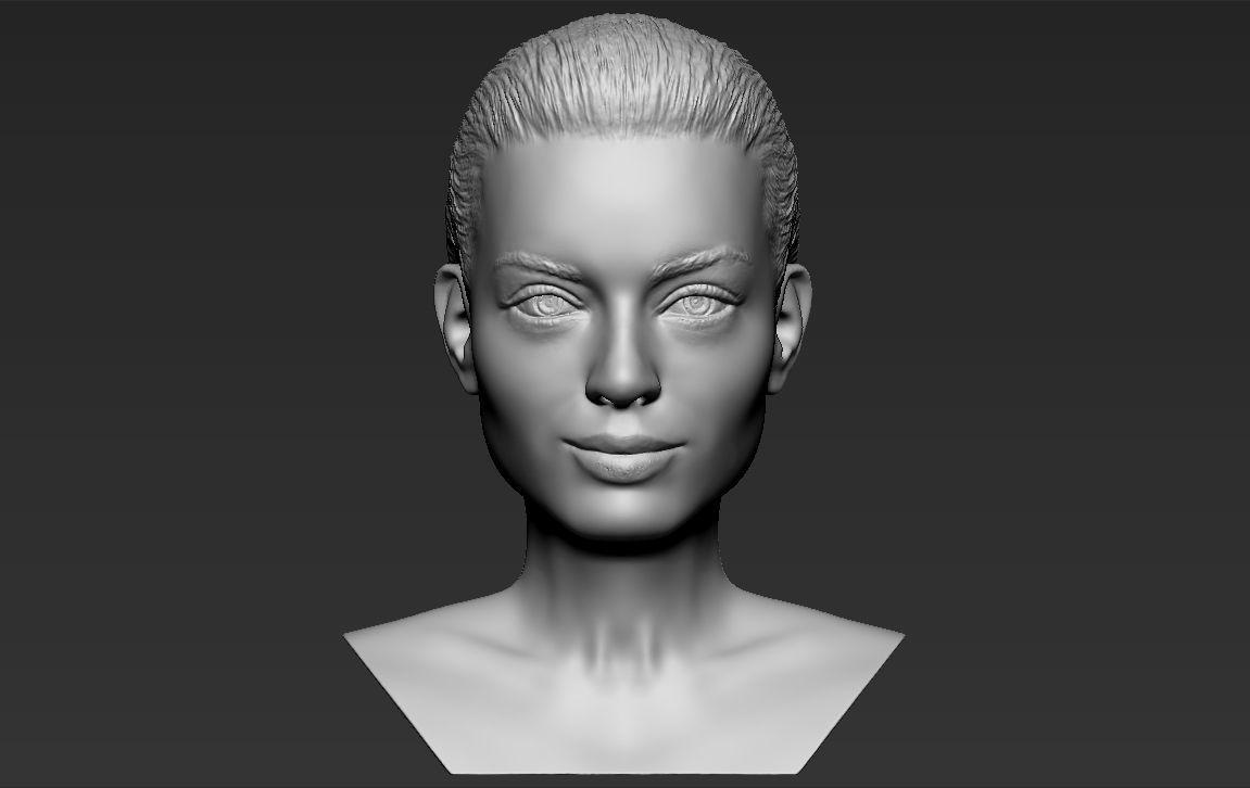 Margot Robbie bust 3D printing ready stl obj formats