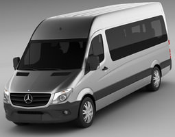 3d  mercedes sprinter 2013 minibus