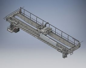 3D asset BRIDGE CRANE 20 TN