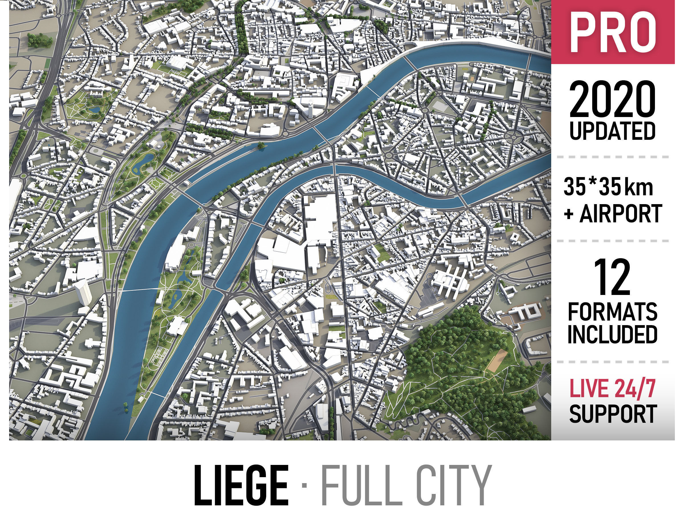 Liege - city and surroundings