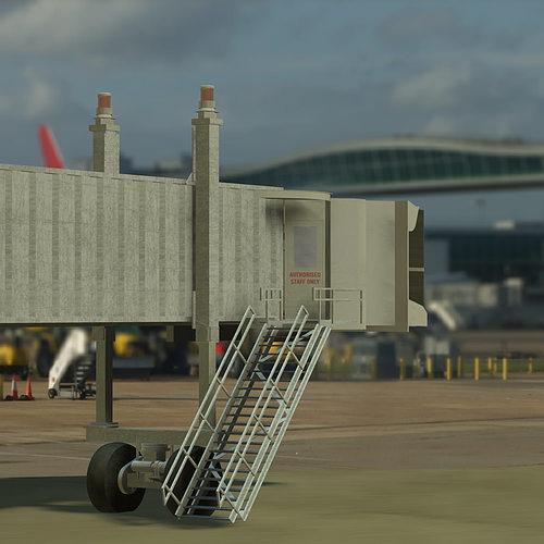 Air Bridge 3D Model OBJ MTL PDF