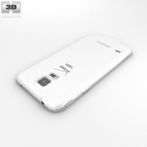 samsung galaxy s5 white. samsung galaxy s5 verizon shimmery white 3d model max obj 3ds fbx c4d lwo lw lws