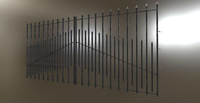 Iron Black or Silver Gate Fence PBR