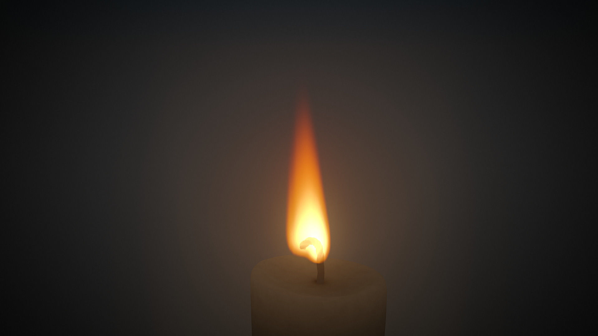 Candle Fire VDB animated 20s