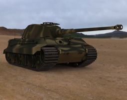 king tiger wwii tank 3d model obj