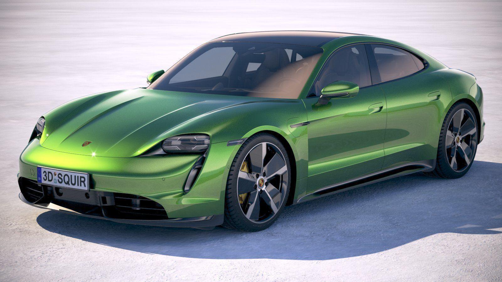 Porsche Taycan Turbo S 2020 VRAY