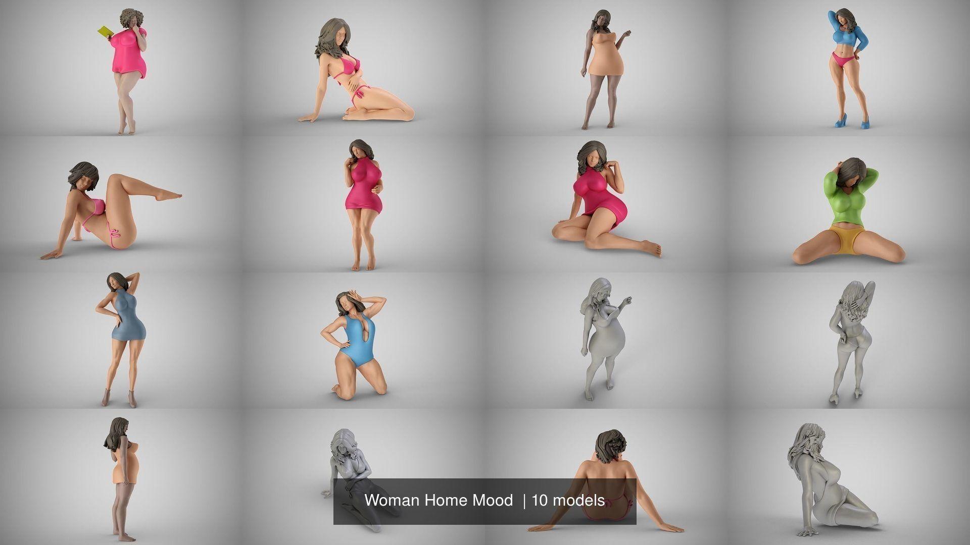 Woman Home Mood
