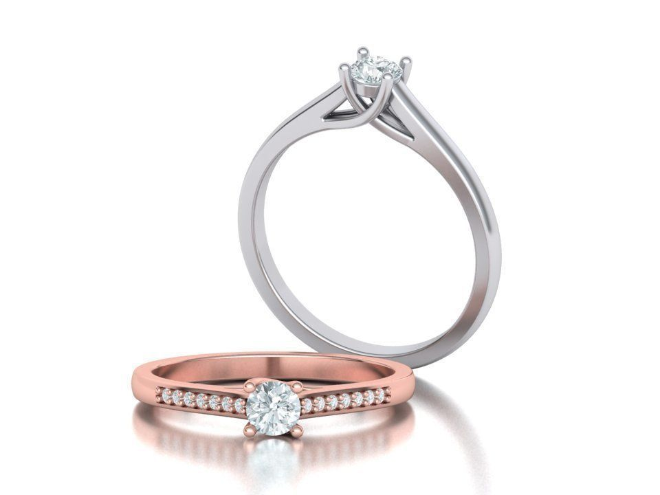 Engagement Solitaire ring 4prong Own design