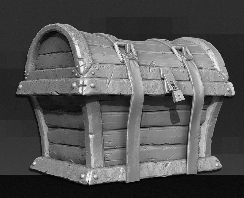 3D Treasure Chest - High Poly