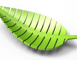 3D printable model Leaf-shaped bowl