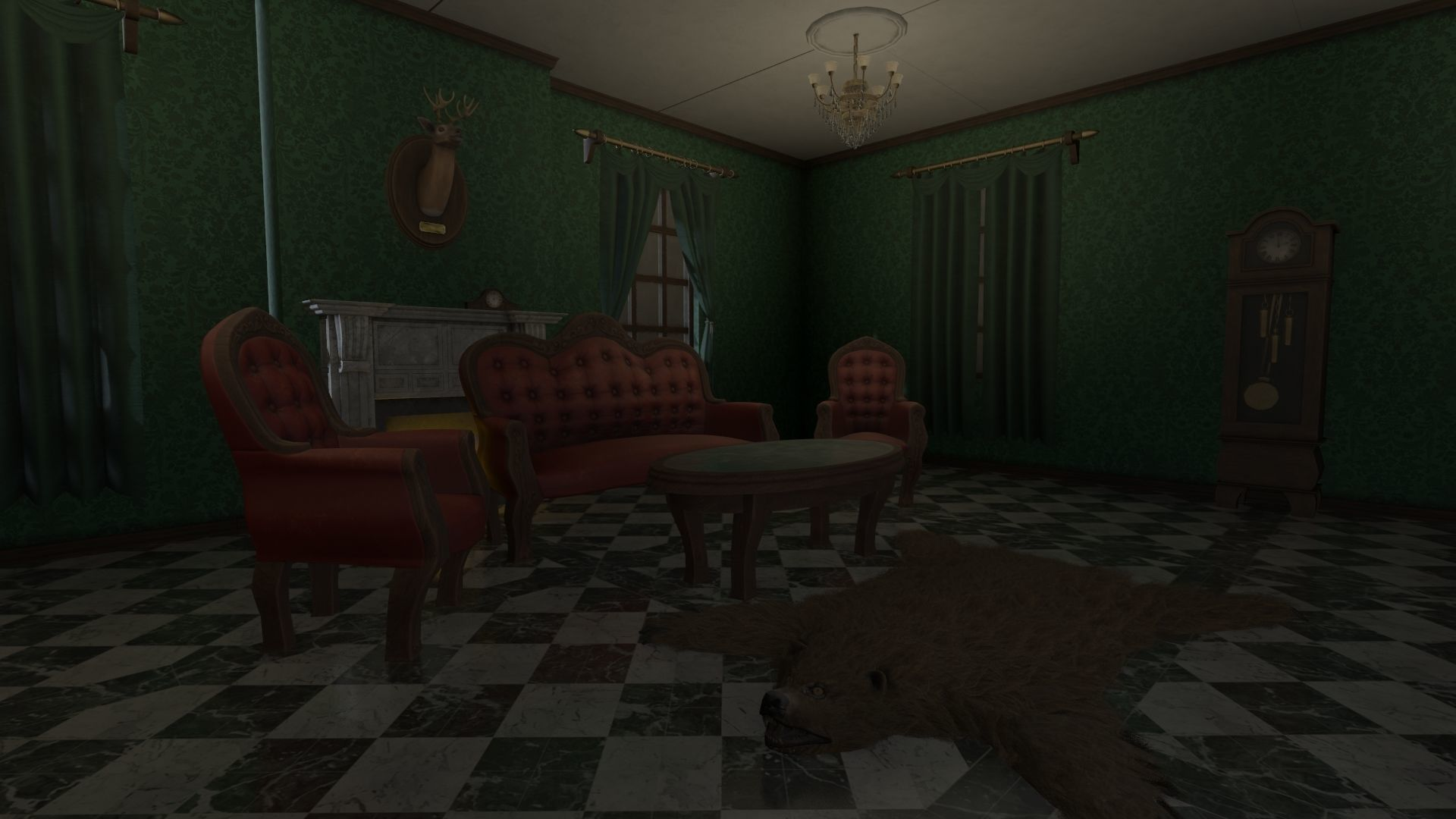 Vintage Victorian Living Room Pack With PBR Materials