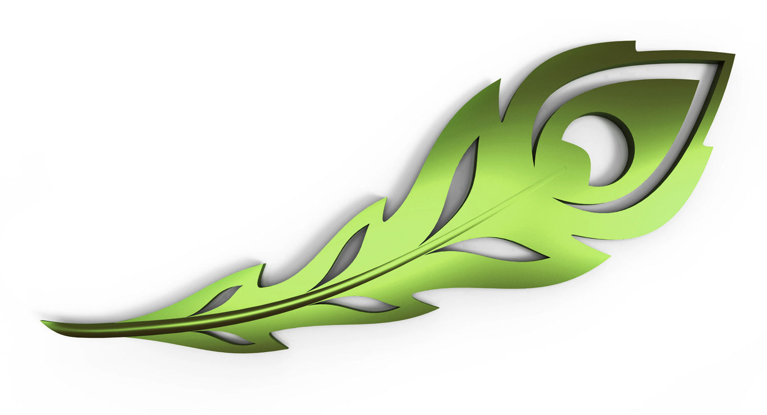 3d Print Model Peacock Feather Cgtrader