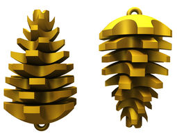 3d printable model pinecone decoration