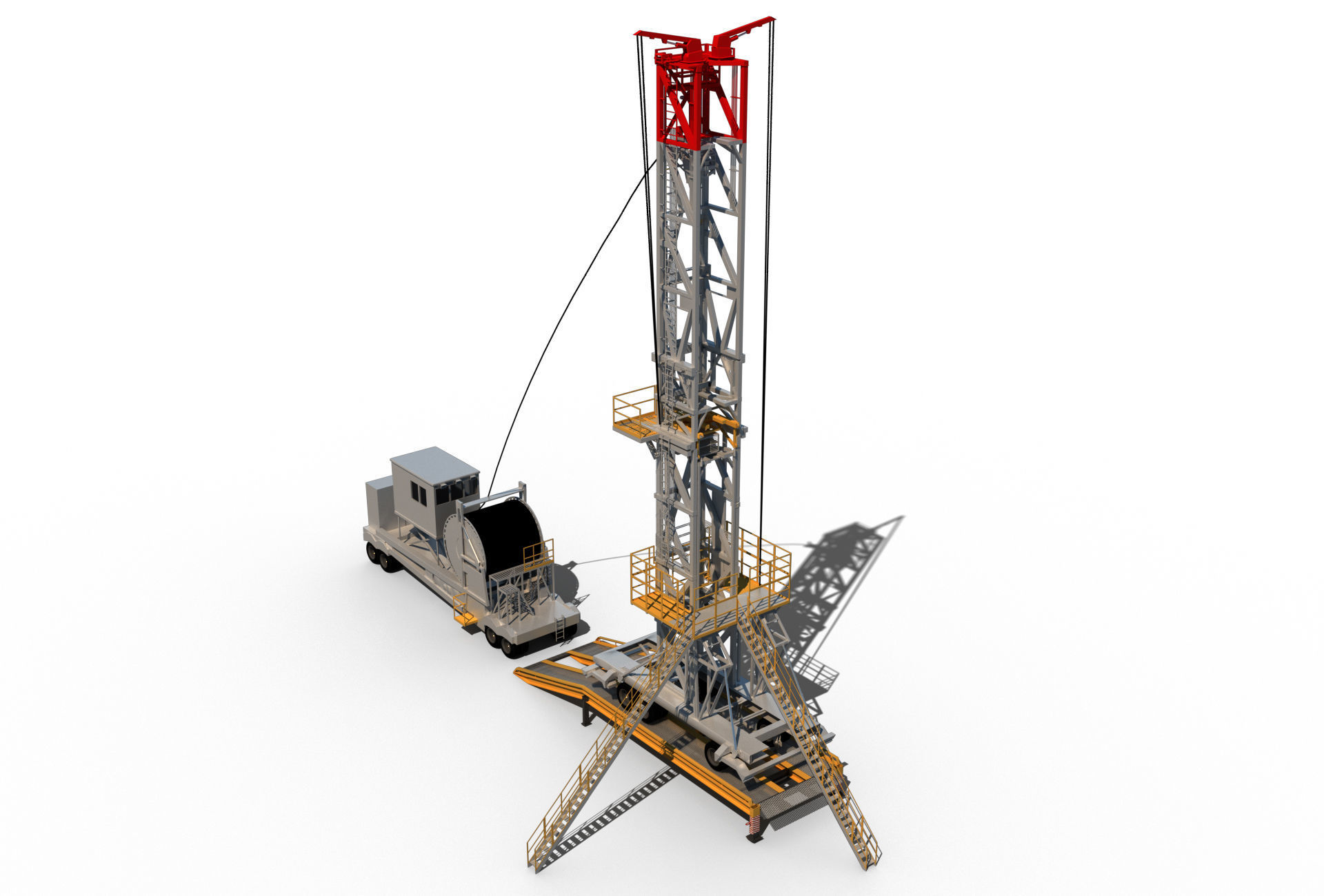 Mobile oil rig