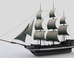 3d asset realtime sailing ship