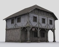 house 3 game-ready 3d model