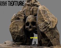 skull cave 00 3d