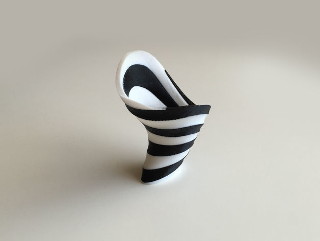Zebra Vase Dual Extrusion - 2 Color