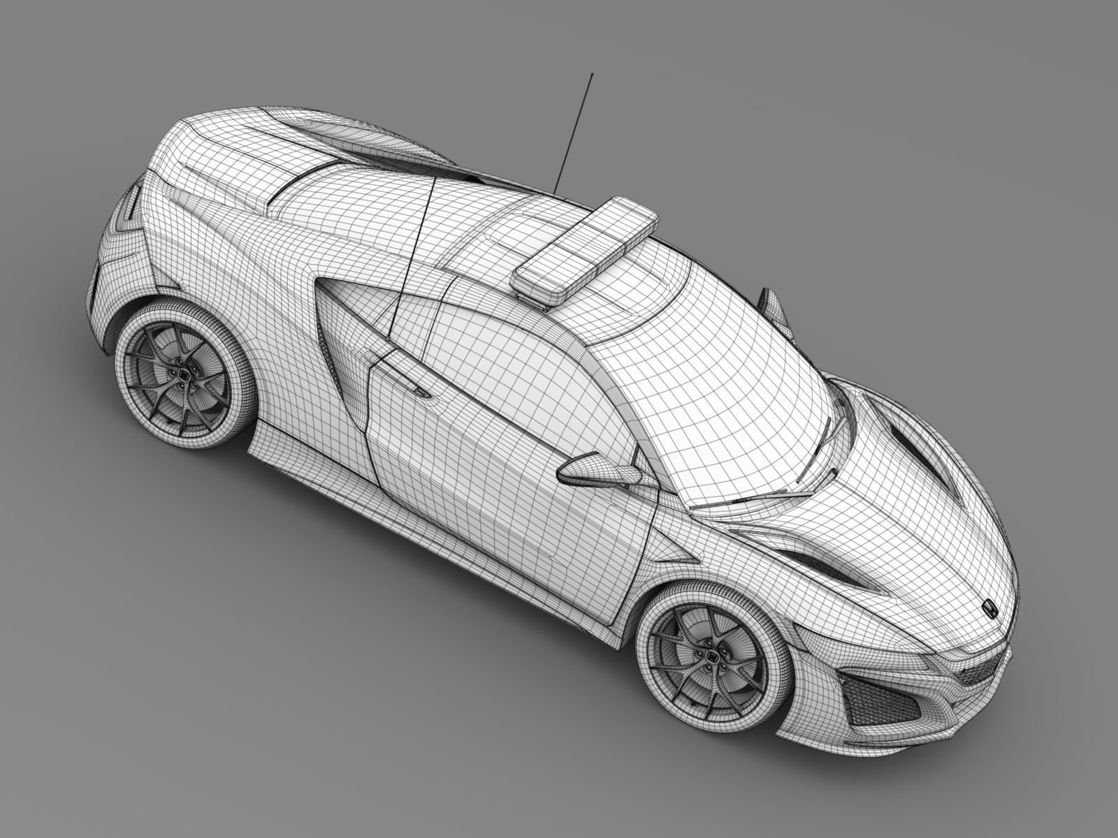Honda Nsx 2017 Safety Car 3d Model Cgtrader