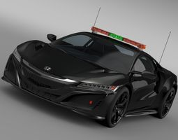 honda nsx 2017 safety car 3d model