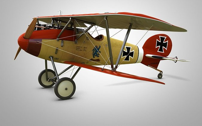 fighter aircraft albatros 3d model max obj mtl fbx stl 1