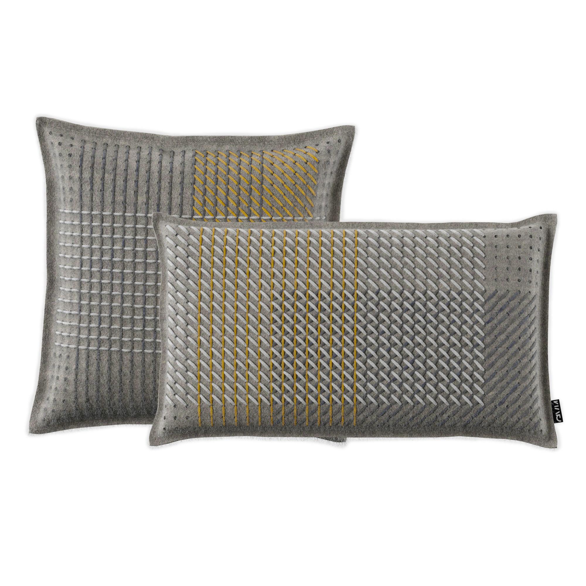 Cushion Canevas Geo Grey By Gan 3d Model