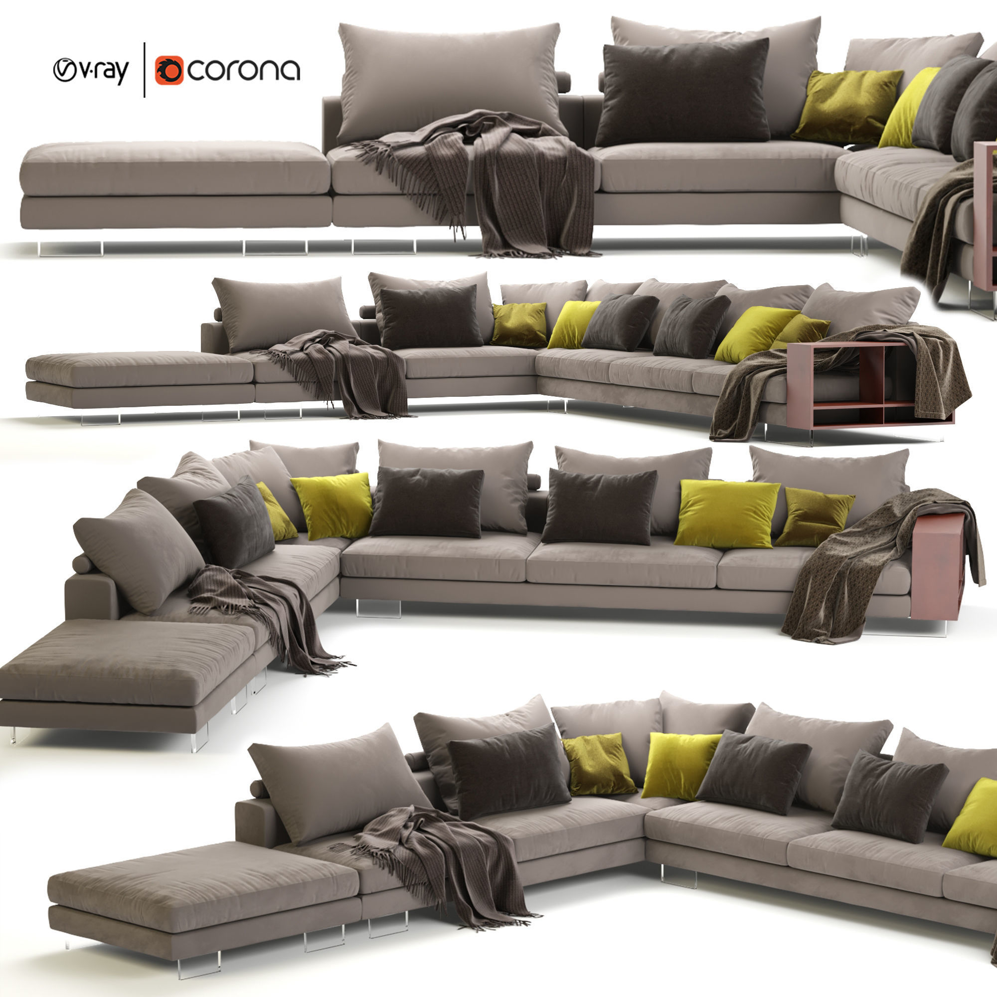 Flexform Lightpiece Modular Sofa
