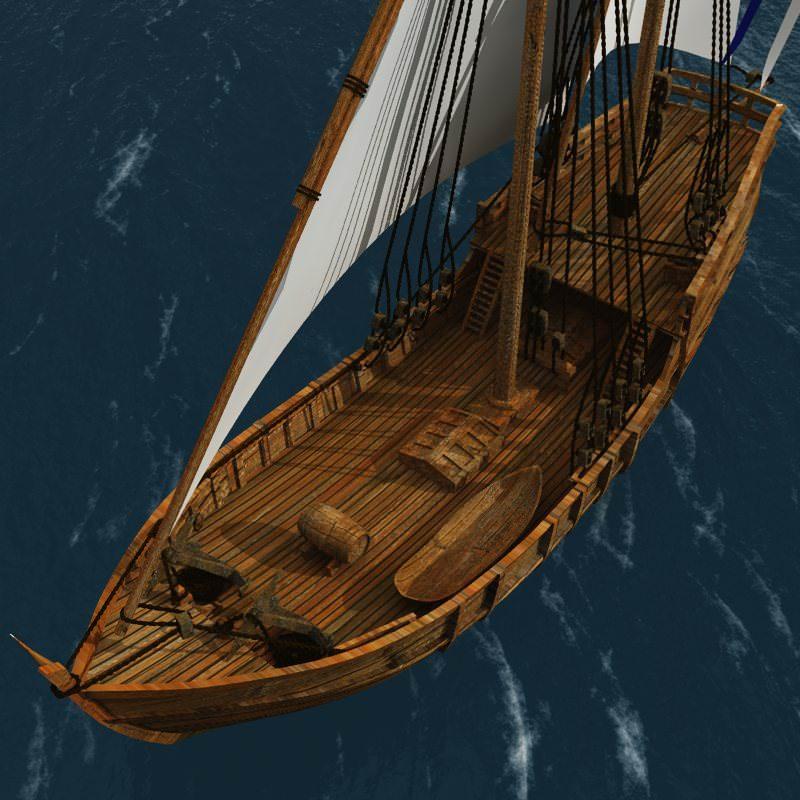 Nina Sailing Vessel 3d Model Max Obj Mtl Pdf Cgtrader Com