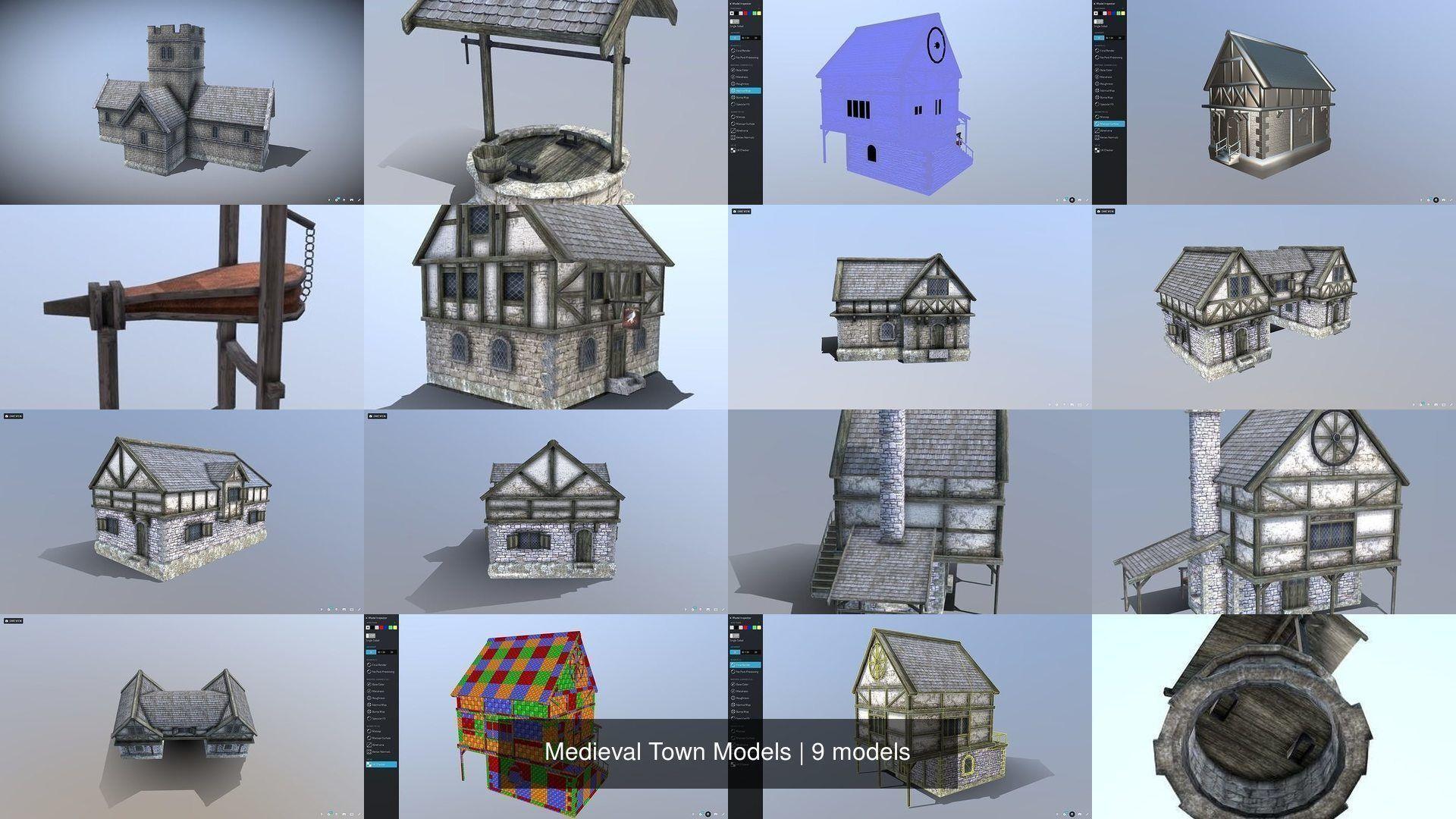 Medieval Town Models