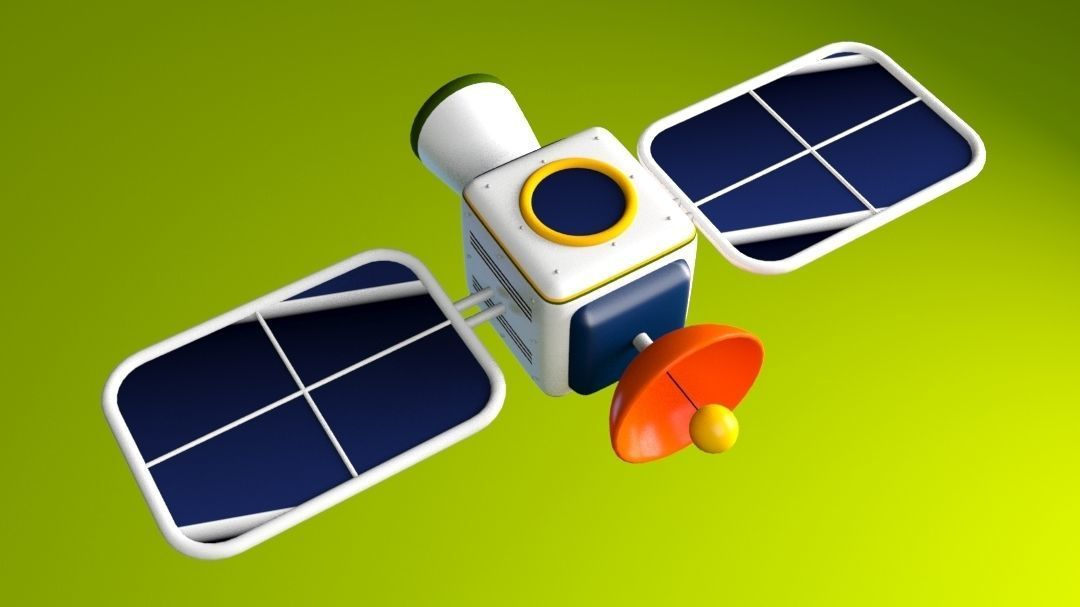 Cartoon Satellite