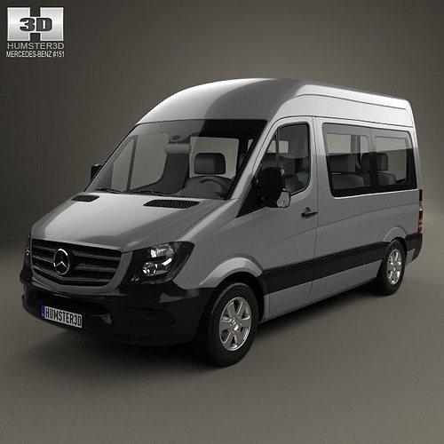 2016 Mercedes Benz Sprinter 2500 Passenger Exterior: Mercedes-Benz Sprinter Passenger Van CWB HR 2013 3D Model