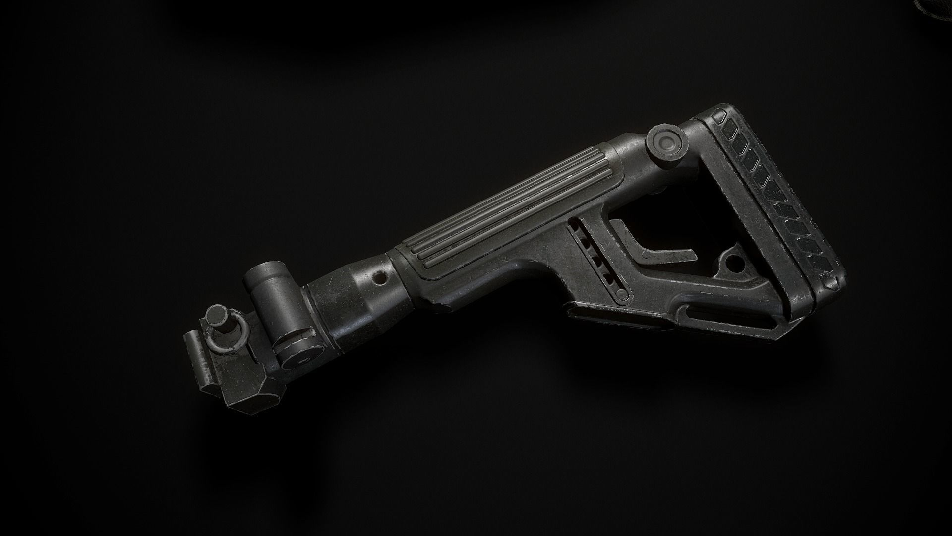 Butt of the rifle AK