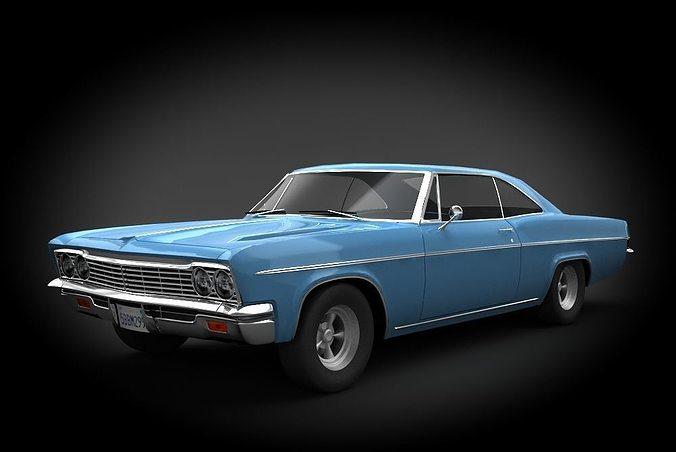 chevrolet impala ss 66 3d model low-poly max obj mtl fbx 1