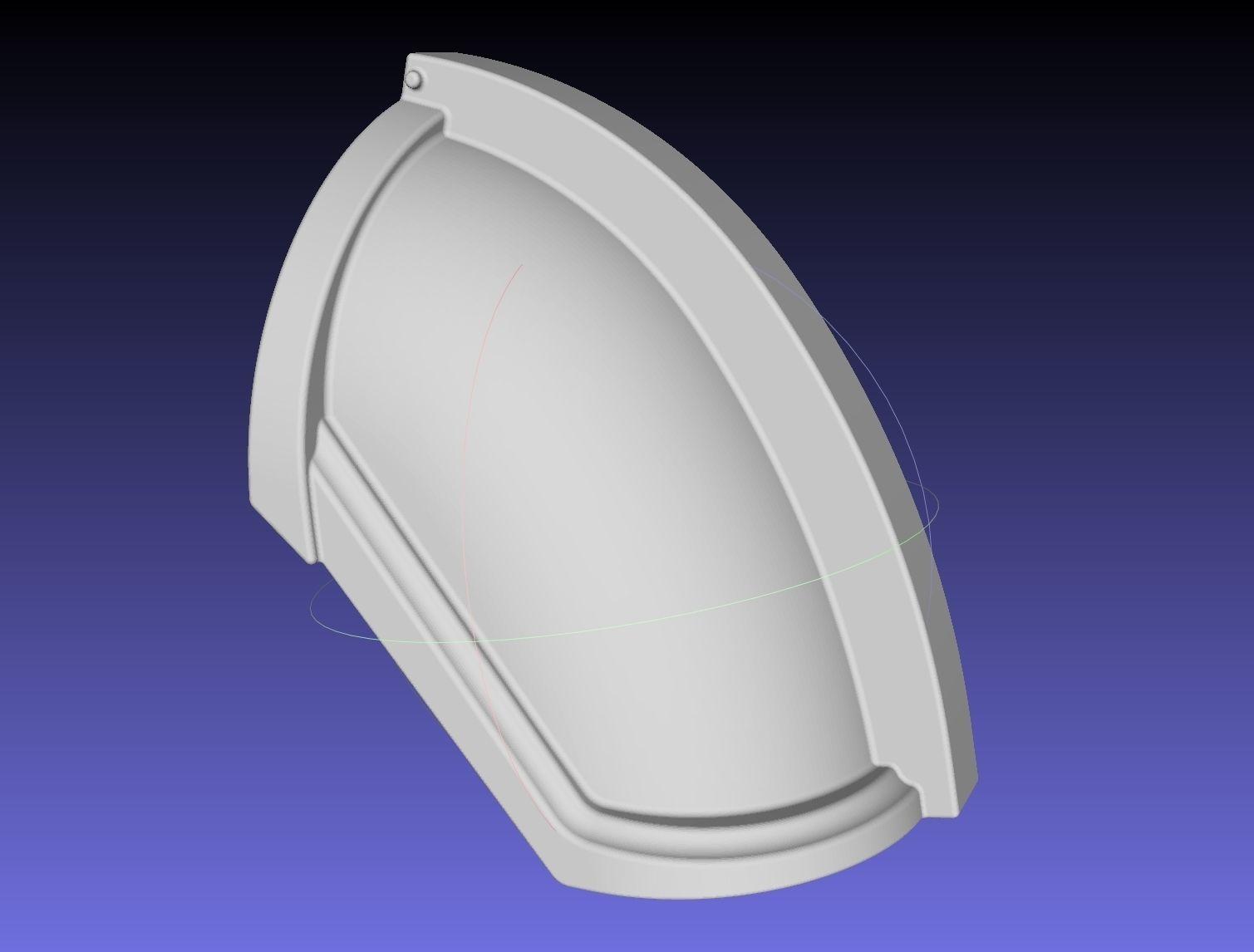 Star Wars Mandalorian Chrome Armor Shoulderpiece Printable