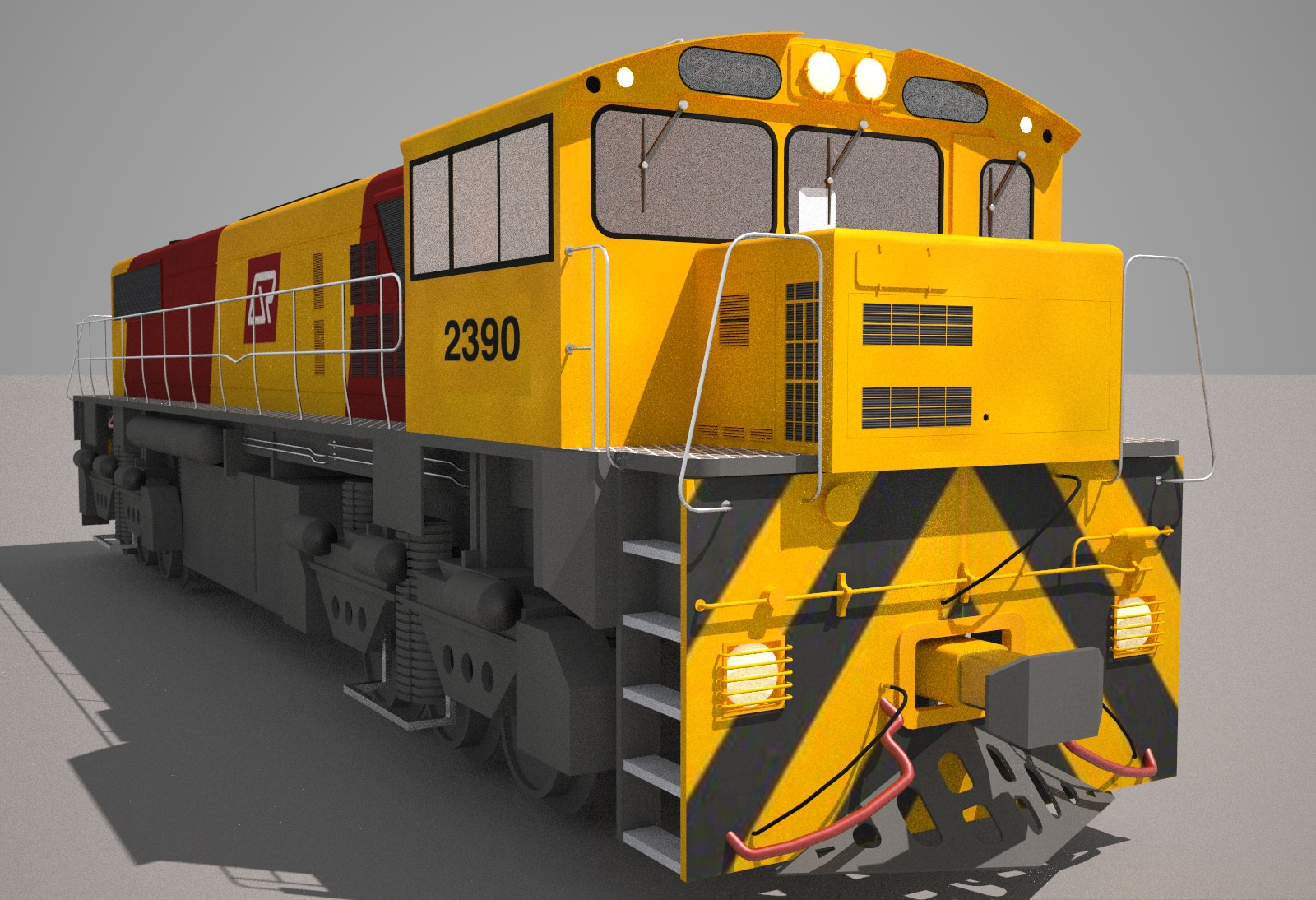 qr freight train class   model obj ds fbx hrc xsi dae skp cgtradercom