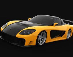 3D asset Mazda RX-7 Veilside